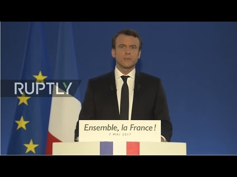 LIVE: French 2017 presidential election runoff: Macron's electoral night event - ENGLISH