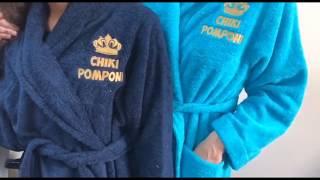 видео Махровые и вафельные женские халаты оптом от производителя