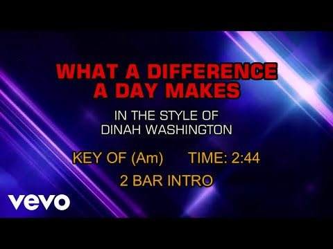 Dinah Washington - What A Difference A Day Makes (Karaoke) mp3