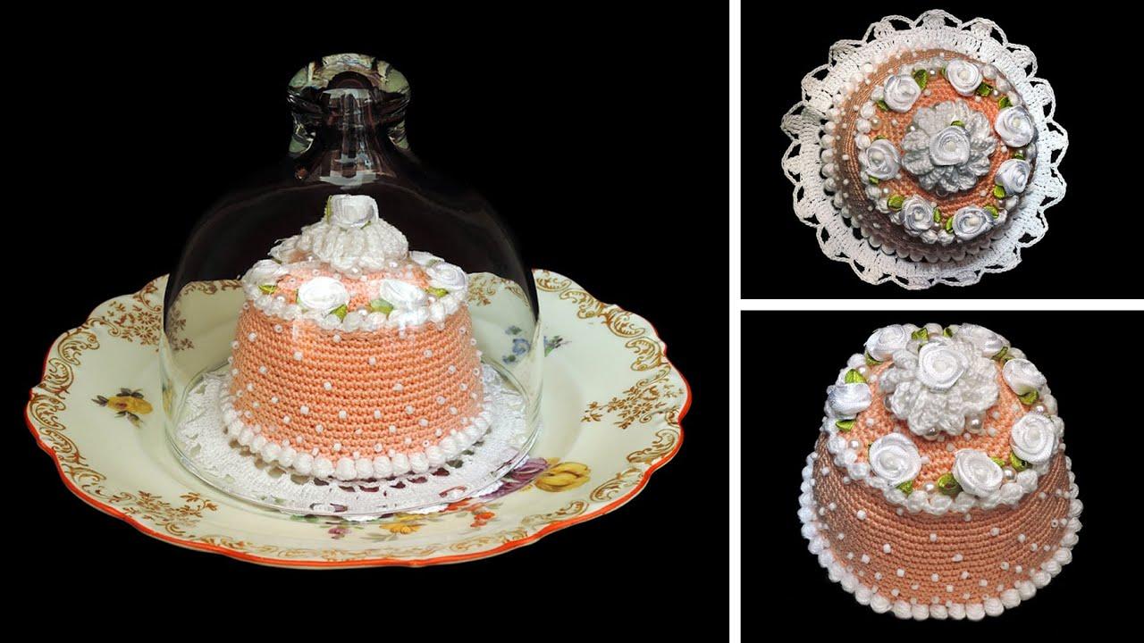 Törtchen Lachsrosa Häkeln Cupcakes Crochet Youtube