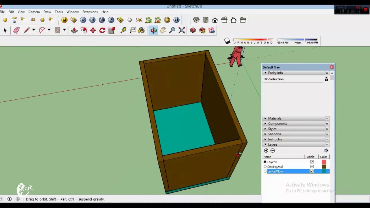 How to use layers in Sketchup - Tutorial Sketchup