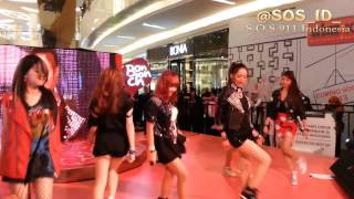 SOS (Sensation Of Stage) - Hot Issue (4 minute Cover) Live at Bonchon 1st Anniversary 130226