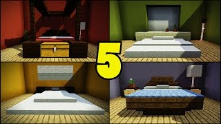 Top 5 bed designs for minecraft builders! teaching you how to build in minecraft. creative building tips and tricks. hope enjoy! subscribe smithersboss: ...
