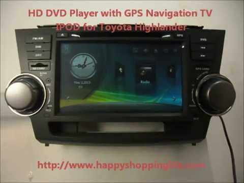 Auto Dvd System For Toyota Highlander 2008 Car Gps Navigation Radio Stereo Bluetooth Tv
