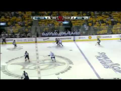 Vancouver Canucks @ Nashville Predators Game 4 Highlights 5/5/11