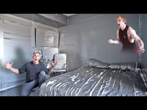 Thumbnail: I DUCT TAPED MY BROTHERS ENTIRE ROOM **PRANK WARS LOGAN VS. JAKE**