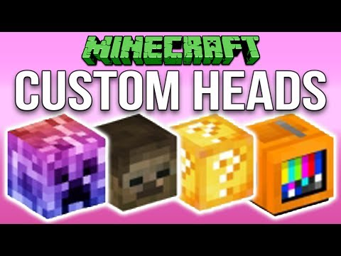 Minecraft 1 12: How To Make Custom Heads Tutorial