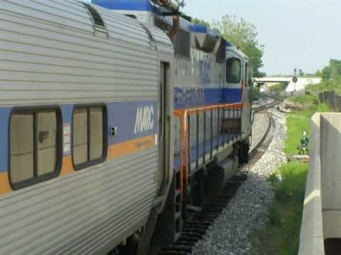 Eastbound MARC Train Departs Greenbelt Pocket Track