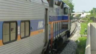 Eastbound MARC Train Departs Greenbelt Pocket Track