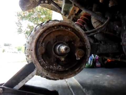 Kawasaki Bayou X Front Drive Shaft Removal