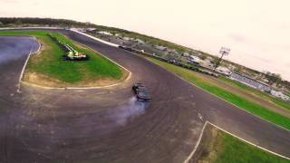 Chasing drift cars with FPV racing drone