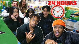 THE ULTIMATE 24 HOUR TOILET PAPER FORT W/ STRANGERS!!