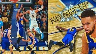 Dunking on the entire warriors team | crazy 360 contact dunk | nba 2k18 mycareer #15