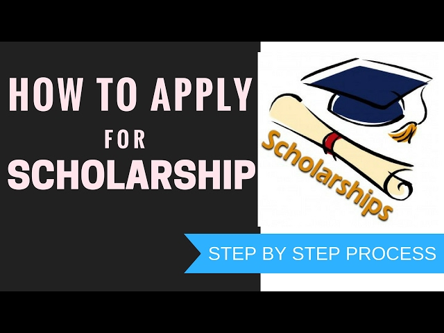 applying for scholarships Applying for scholarships can be simple, but it does take time therefore, take the time up front to plan your route through the land of free money.