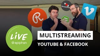 Stream to Facebook & YouTube at the same time - 5 ways!