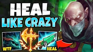 RUN THROUGH ALL 5 ENEMIES WITH MEGA HEALING SINGED MID! (HILARIOUS) - League of Legends