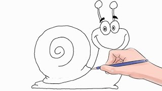 How to Draw a Snail Easy Step by Step