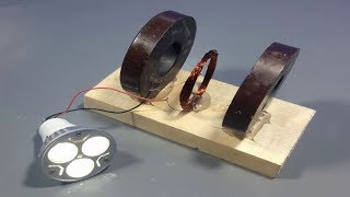 free energy magnet generator homemade for light | science projects
