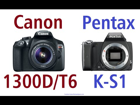 Canon EOS 1300D/T6 vs Pentax K-S1
