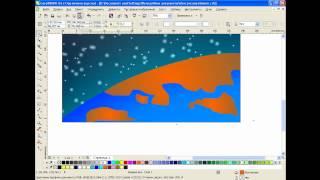Рисуем космос в CorelDRAW X6(Видео урок расскажет о том, как с помощью инструмента «Интерактивное перетекание» создать ореол света...., 2012-07-11T16:24:03.000Z)