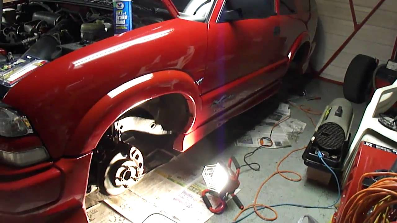 2001 Chevy Blazer Extreme Brake Repair Process Part 2  YouTube
