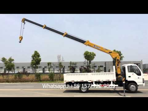 4 Ton ISUZU Hydraulic Telescopic Boom Truck Mounted Crane For Construction
