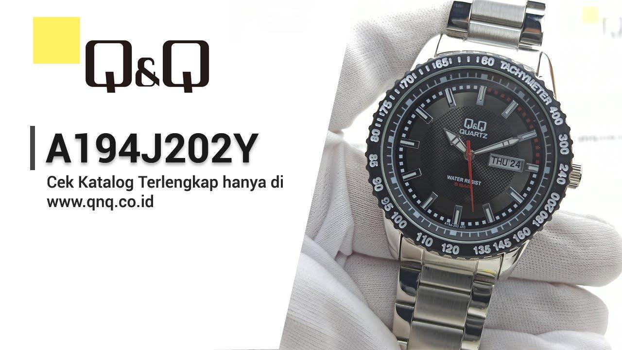 Q Q Men S Fashion A194j202y Review Setting Jam Tangan Pria Analog Q Q Indonesia Youtube