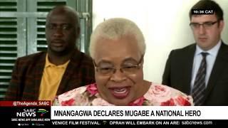 Mugabe's body to arrive in Zimbabwe on Wednesday