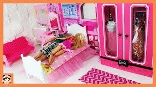 Barbie Bedroom Morning routine Doll House غرفة نوم باربي Beliche para Barbie Quarto 미미 인형놀이 일상 밀착중계