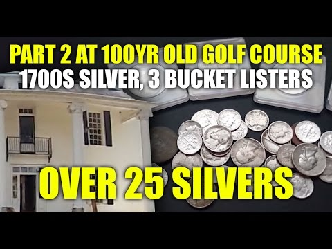 Over 25 Silvers From The 100YR Old Golf Course + 1700's Silver!!!