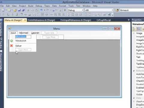 Cara Membuat Menu Pada Visual Basic