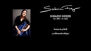 I.  Sieber: Sonate g-Moll 4.) Allemanda Allegro für Blockflöte und B.c.