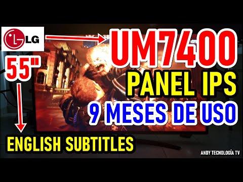 LG UM7400 panel IPS: 9 MESES DE USO Review Completa - English Subtitles