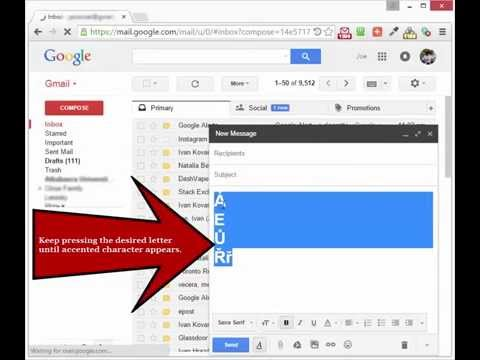 Accents & Diacritics for Gmail (Google Chrome Extension)