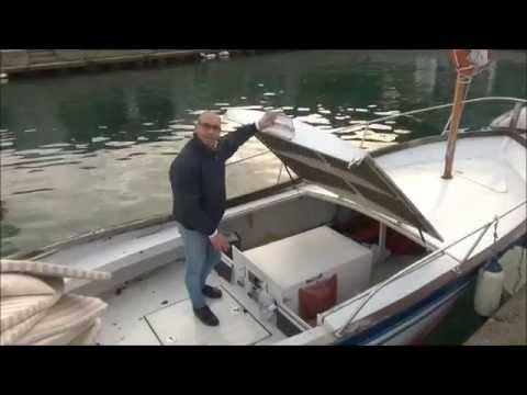 Gozzo con motore lombardini entrobordo diesel youtube for Gozzo motore entrobordo