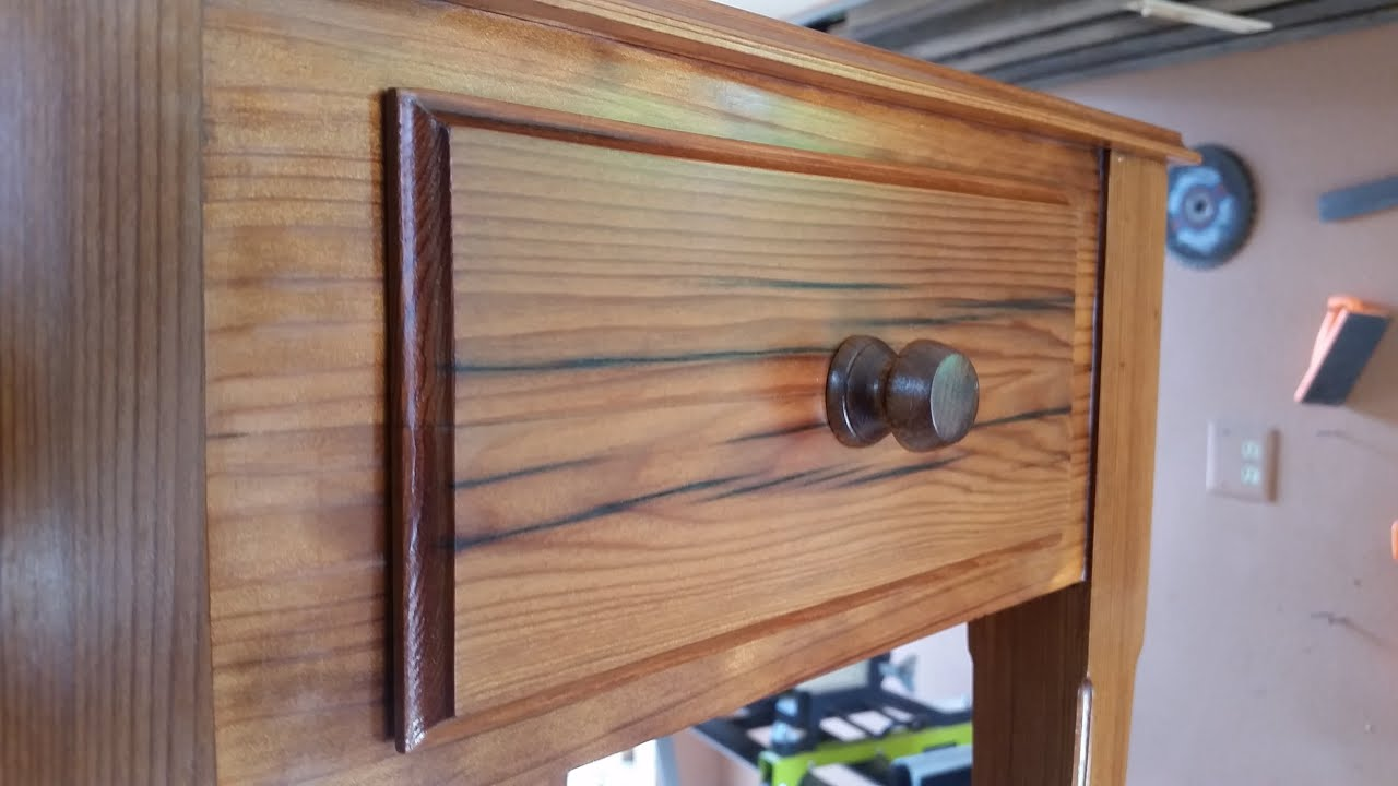 Reclaimed Redwood Nightstand with Secret Compartment - YouTube