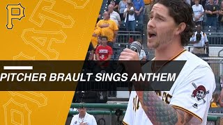 Pirates RP Steven Brault sings anthem at PNC Park