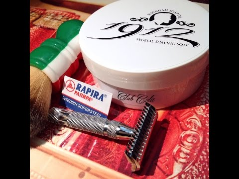 Wickham Soap Co 1912 Club Cola - PAA Double Open Comb - RazoRock Plissoft