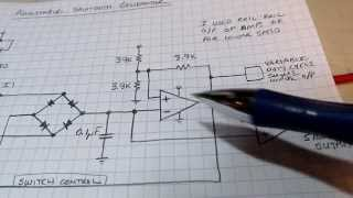 #104: Circuit tutorial: sawtooth generator w/ current sources, diode switches, hysteresis comparator