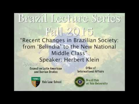 "Brazil Lecture Series: ""Recent Changes in Brazilian Society"""