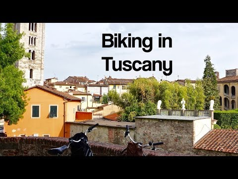 Biking the City Walls of Lucca, Italy in Tuscany