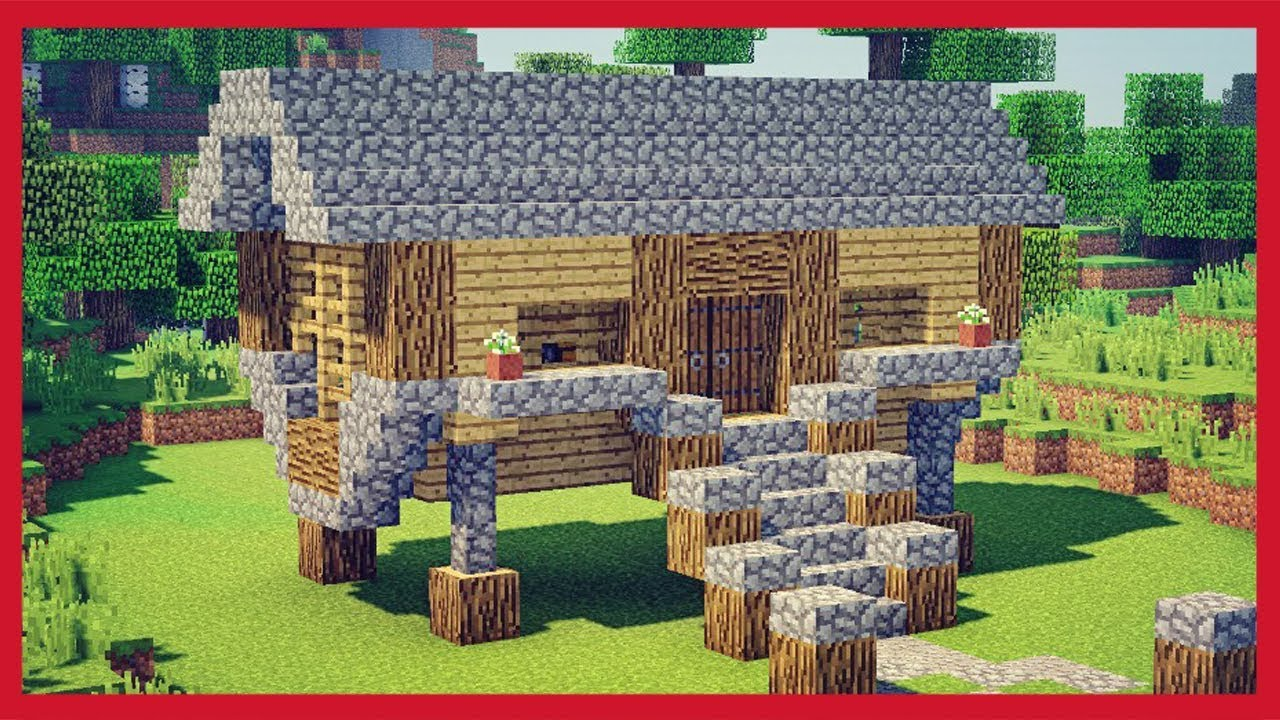 Minecraft come fare una piccola casa rustica youtube for Procedura per costruire una casa