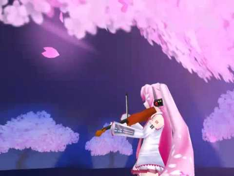 3DCG : Hatsune Miku played with Violin [Metasequoia 3D Animation]