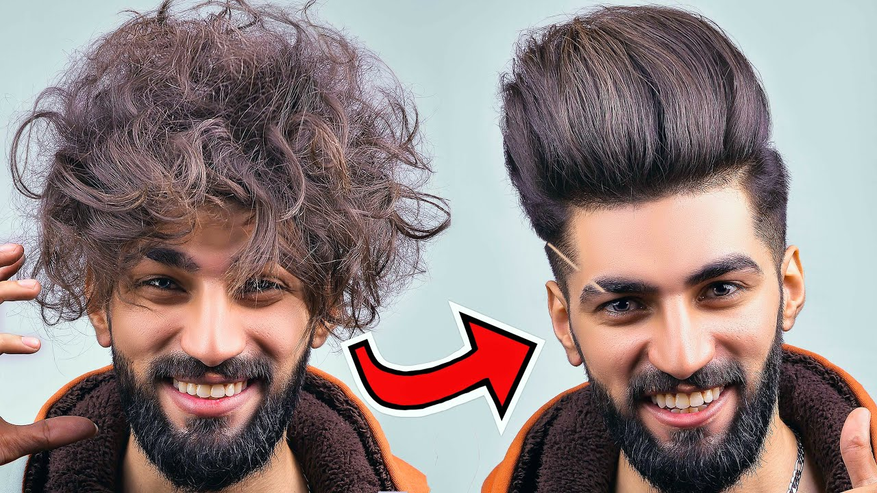 Curly Hairs to Straight Hairs Boys and Girls at Home in 5 Minute with Dryer in Zero Budget 2021