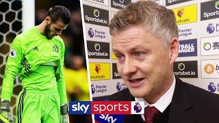 Ole Gunnar Solskjaer defends David De Gea after his blunder vs Watford  Post Match
