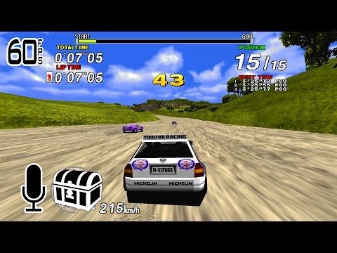 Sega Rally - 1cc - Hardest - 60FPS - Comentado + Extras