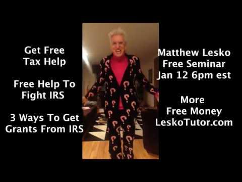 Forget H&R Block: Get Free Tax Help, Legal Help & IRS Grants: FB Live Jan 12 6pm