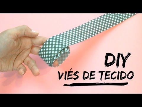 DIY VIÉS CONTÍNUO DE TECIDO - COMO FAZER...