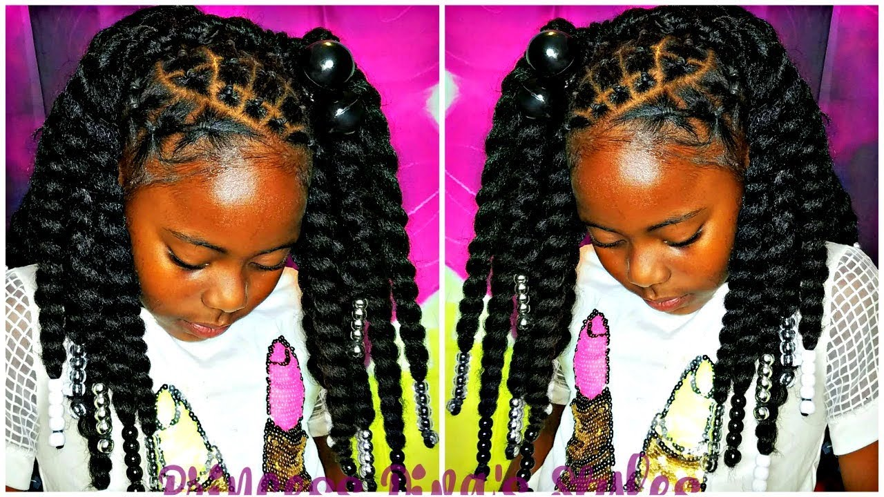No Braid Crochets  Natural Kids Hair  Protective Styling  YouTube