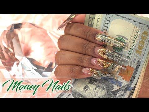 Acrylic Nails Payday Encapsulated Money Nails